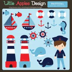 Sailor clipart nautical theme