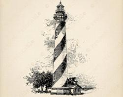 Lighthouse clipart vintage