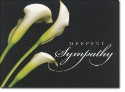 Calla Lily clipart sympathy card
