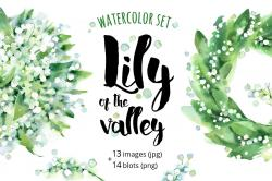 Lily Of The Valley clipart watercolor