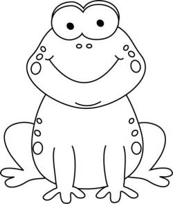 Drawn toad black and white