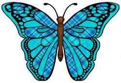 Fantasy clipart colorful butterfly