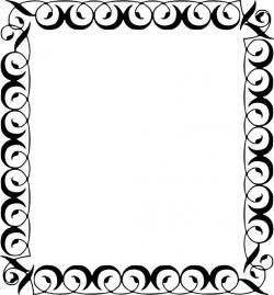 Line Art clipart decorative border