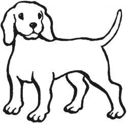 Line Art clipart dog outline