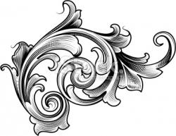 Victorian clipart victorian scroll