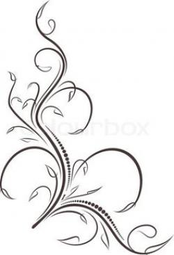 Line Art clipart filigree