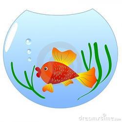 Fishtank clipart goldfish