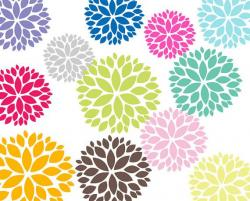 Line Art clipart flower pattern