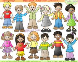 Line Art clipart kids line