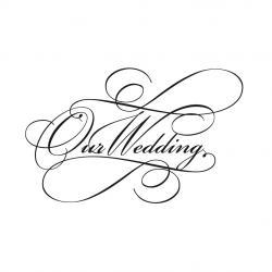 Line Art clipart wedding invitation
