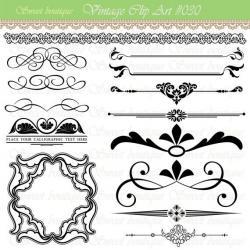 Line clipart invitation design