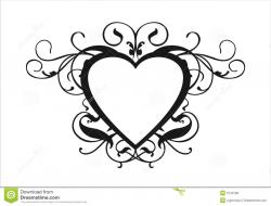 Line Art clipart wedding scroll
