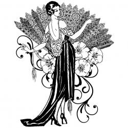Women clipart art nouveau