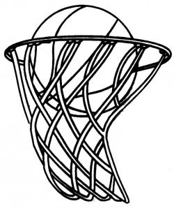 Sketch clipart basketball