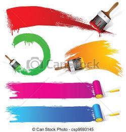 Line clipart brush stroke