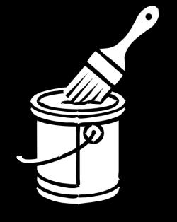 Splatter clipart paint bucket