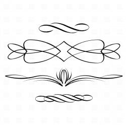 Line clipart calligraphy