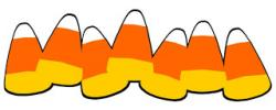 Line clipart candy corn
