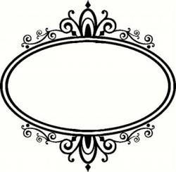 Damask clipart elegant scroll