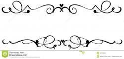 Curl clipart decorative scroll