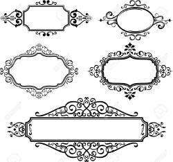 Line clipart ornate