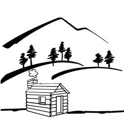 Valley clipart black and white