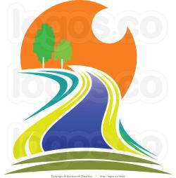 Moving clipart sunset