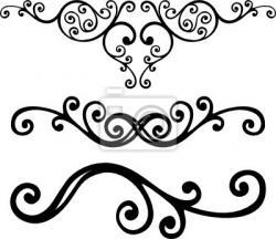 Curve clipart baroque