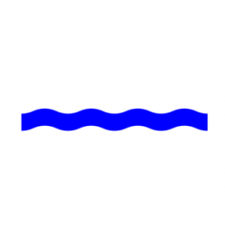 Line clipart water wave