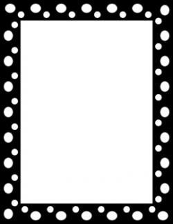Dots clipart polka dot border