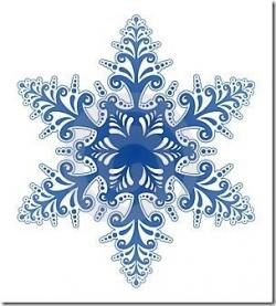 Music clipart snowflake