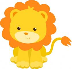 Illustration clipart jungle lion