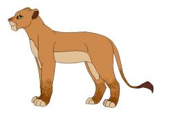 Puma clipart female lion