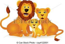 Lioness clipart lion family