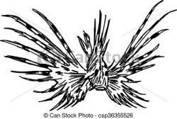 Lionfish clipart Lionfish Drawing