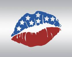Lips clipart american flag