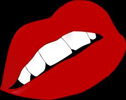 Lipstick clipart red lip
