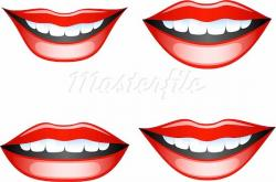 Lips clipart happy mouth