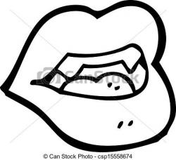 Lips clipart line drawing