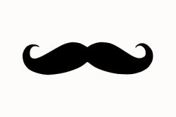 Lips clipart mustache