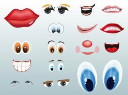 Lips clipart nose