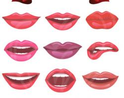 Lips clipart printable