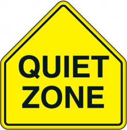 Noise clipart quiet zone