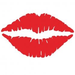 Lips clipart square glass