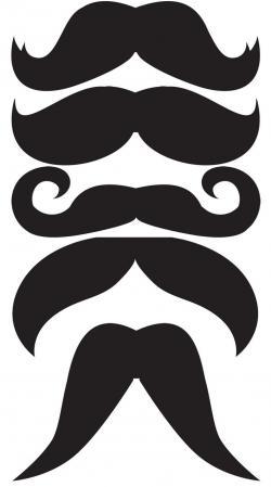 Dark Blue clipart mustache