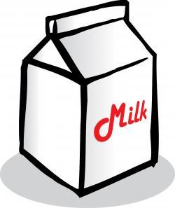 Milk Carton clipart black and white
