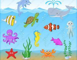 Stingray clipart aquatic animal