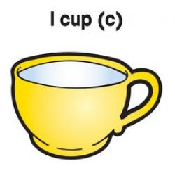 Number clipart 1 cup