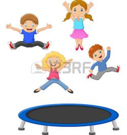 Professional clipart trampoline
