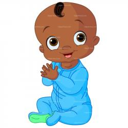 Little Boy clipart african american boy